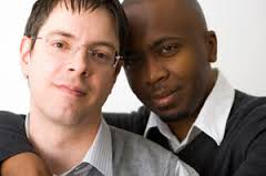 same sex couple b&w